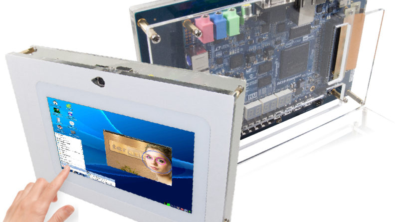 All-in-one embedded solution- offered By Terasic's VEEK-MT2S Development Kit (combination with LCD touch panel and digital image module)